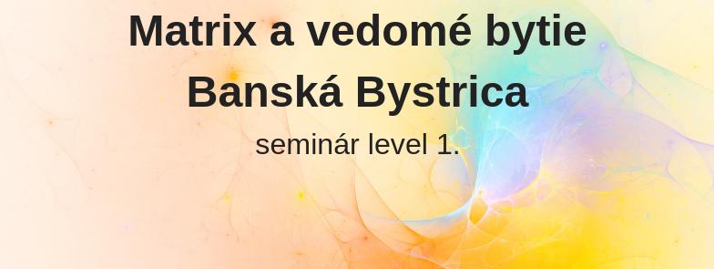 level 1 - Matrix a vedomé bytie, Banská Bystrica