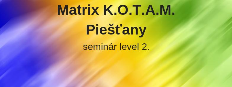 level 2 - Matrix K.O.T.A.M., Piešťany, Plne obsadený.